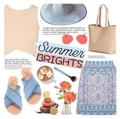 """Summer brights!"" by helenevlacho ❤ liked on Polyvore featuring Oasis, Jonathan Simkhai, Ancient Greek Sandals, Old Navy, Giorgio Armani, Anja, contestentry and summerbrights"