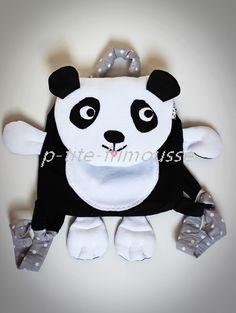 """Sac à dos """"Petit Panda""""! adorable pour enfant maternelle,crèche,sorties etc                                                                                                                                                                                 Plus"""