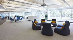 Hosu Lounge Chairs at DIRECTV's DLAB in California. Perfect for a relaxed meeting.