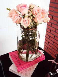 Cha de Lingerie Bridal Shower ~ Roses #bridalshower #bridal #shower #roses #pink + #brown @WedFunApps ♥'s