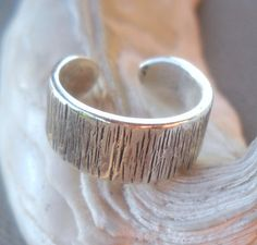 925 Sterling Silver Hammered Toe Ring | pavlos - Jewelry on ArtFire