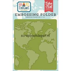 Echo Park Go See Explore - Around The World Embossing Folder