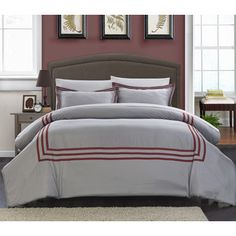 Shop for Chic Home Palani Modern Hotel Collection Red 7-piece Bed in a Bag Duvet Cover Set. Get free shipping at Overstock.com - Your Online…