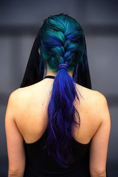 love the color. and the braid. we need to work on the front a little bit.