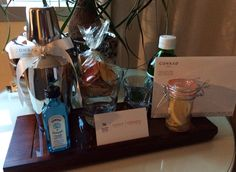 Make your own gin tonic. What a turndown gift! #amenities #turndown #conrad