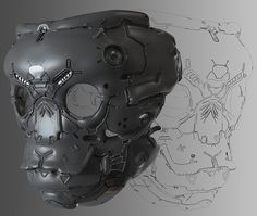 ArtStation - Mask , by Fuad Quaderi More robots here. Cyberpunk, Photoshop Mask, Powered Exoskeleton, Cool Masks, Diy Mask, Sci Fi Art, Art Portfolio, Archetypes, Mask Design