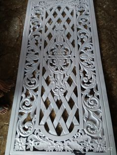 Ukir spon T30 Router Projects, Pvc Projects, Wood Carving Patterns, Carving Designs, Thermocol Craft, Wood Room Divider, Pet Gate, Grill Design, Recycled Crafts