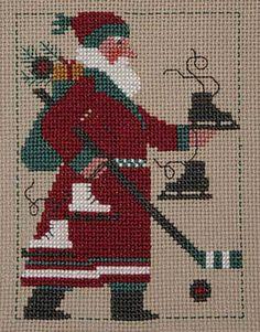 2009 Schooler Santa - Cross Stitch Pattern