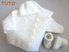 tuto - Layette tricot bb fait main, modèle tricot bebe
