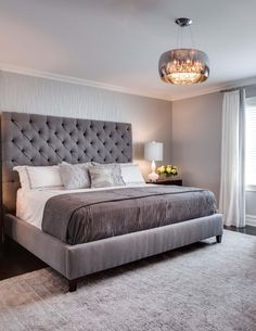 Bedrooms - JENNIFER PACCA INTERIORS  #interiordesign #homedecor #design #decor #bedroom  #inspiration #housegoals #tuftedheadboard  #chandelier #newhome  #headboard  #newjersey #masterbedroom #cozy  #fufted #bedding #transitionaldesign #glamourousbedroom #peacefulretreat