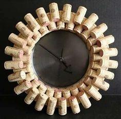 Orologi a parete fai da te - Orologio con i tappi di sughero