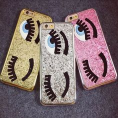 Top sale! New Arrival Fashion 3D Sequins Big Blinking Eyes Phone Case For iPhone 5 5S/6S/6 Plus Bling Phone Hrad Case Cover