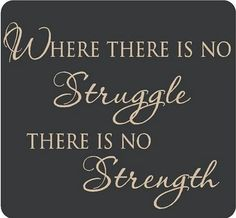 Where there is no struggle, there is no strength.