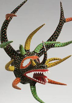 Caribbean Mask - Vejigante Puerto Rico ~     Carnival, Ponce, Puerto Rico ~     27 inches, painted papier mache ~     Made by Miguel Caraballo, a well-know mask maker in Ponce.
