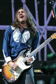 John Frusciante, former guitarist of the Red Hot Chili Peppers (best band ever). Love him! Excellent guitarist, wish he was still with the band ♥