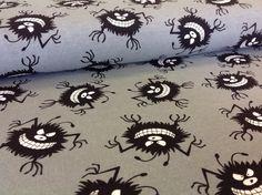 Hilco Sweat Jersey Cucos Monster grau schwarz von PinkPeppa auf DaWanda.com
