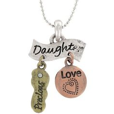 Tri-Charm Sterling Silver Personalized Daughter Fashion Pendant $5.99, FREE SHIPPING!!! :)