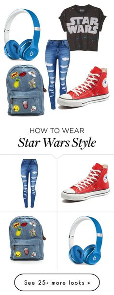 """""""Untitled #3076"""" by jaeherring14 on Polyvore featuring WithChic, Converse and Beats by Dr. Dre Kpop Fashion, Womens Fashion, Fashion Trends, Cute Edgy Outfits, Kpop Hair, Beats By Dr, Beauty Essentials, Converse, Outfit Ideas"""