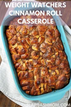 Weight Watchers Cinnamon Roll Casserole