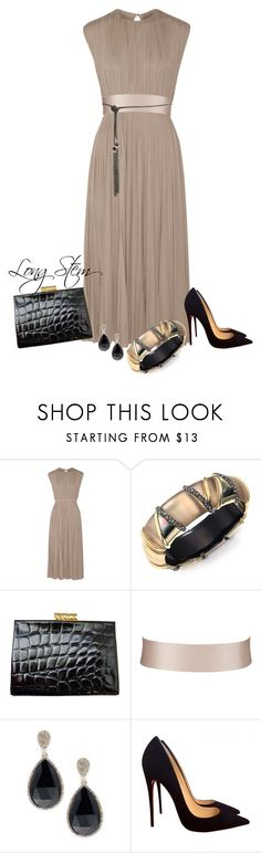 """3/18/17"" by longstem ❤ liked on Polyvore featuring Valentino, Alexis Bittar, Alexander McQueen, John Lewis, Saks Fifth Avenue and Christian Louboutin"