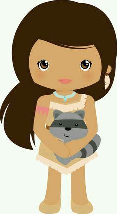 Pocahontas and Meeko!