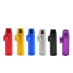 Anodized Tobacco Pipe parts /& accessories Light Blue SAT Bullet