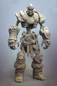 Item: Skeleton warrior  Type: Digital Sculpting  Artist: Alex Malykhin