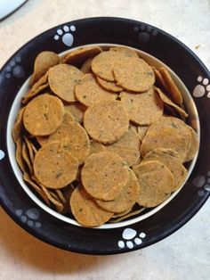 Homemade sweet potato dog treats, grain free