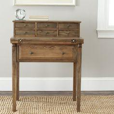 Safavieh Abigail Oak Finish Fold Down Desk | Overstock.com Shopping - Great Deals on Safavieh Desks
