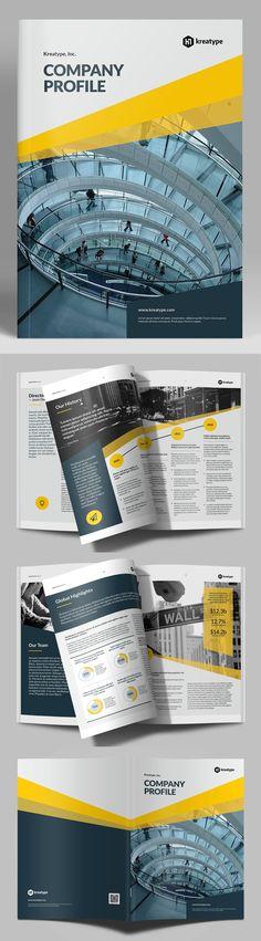 Company Profile Brochure Template      #annualreport #bestof #booklet #brochuredesign #brochuretemplates #catalogdesign #portfoliobrochure