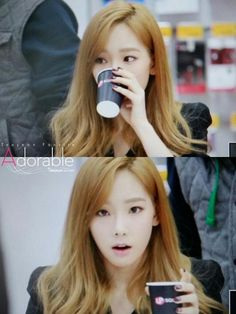 I know she's just having a drink, but she's just... ugh ♡ #taeyeon