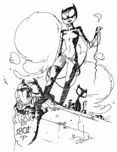 Ben Caldwell draws Catwoman; promises more sketch-sharing Robot 6 @ Comic Book Resources - Robot 6 @ Comic Book Resources