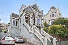 957 Grove Street, (originally 927 Grove), the William Schulz House, with a sensational new paint job!