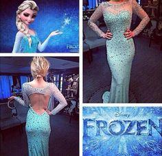 Elsa inspired prom dress!