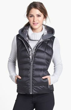 Bernardo Hooded Insert Goose Down Vest (Regular & Petite) available at #Nordstrom