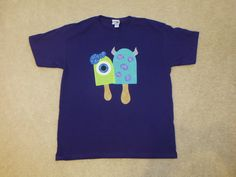 MONSTERS InC UNiVeRSiTY Mike and Sulley POPSICLE Custom Boutique T SHIRT Tee by EnchantedStitches528 on Etsy
