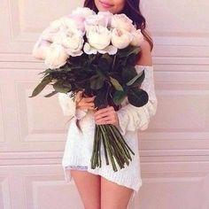 17feb78250 Fashion Book Fashion Books, Love Flowers, Floral Wedding, White Shorts,  Bouquet,