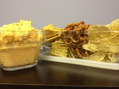 Buffalo Chicken Dip Recipe Served with a variety of sides in our Personalized Glass Trio Storage Sets! Just $18.99  Just 5 easy ingredients: 2 (10 ounce) cans chunk chicken, drained 2 (8 ounce) packages cream cheese, softened 1 cup Ranch dressing 3/4 cup pepper sauce (such as Frank's Red Hot®) 1 1/2 cups shredded Cheddar cheese