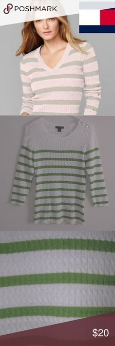 TOMMY HILFIGER Top Like new TH cable knit top. Tommy Hilfiger Sweaters