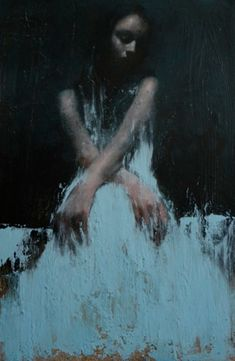 Mark Demsteader | Study for shadowlands, oil on board