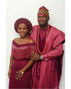 Beautiful couple Event by African Wedding Attire, African Attire, African Wear, African Dresses For Women, African Fashion Dresses, African Women, Nigerian Traditional Wedding, Traditional Wedding Attire, Traditional Weddings