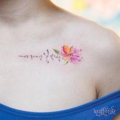 한글 캘리그라피 & 꽃 :) - #타투 #그라피투 #타투이스트리버 #디자인 #그림 #디자인 #아트 #일러스트 #tattoo #graffittoo #tattooistRiver #design #painting #drawing #art #Korea #KoreaTattoo #한글타투 #캘리그라피타투 #수채화타투 #꽃타투 #calligraphytattoo #watercolortattoo #flowertattoo