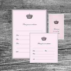 Little Girls Birthday InvitationGirl PartyIncluded Gift Tag - Vintage girl birthday invitation