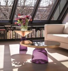 Classicon Bell Table by Sebastian Herkner - a classic contemporary design. And those windows are amazing as well!
