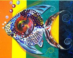 An online gallery of original fish art, abstract paintings, modern art, drawings and prints. The official website and artwork of J. Black And White Dishes, Black White, Two Fish, Fish Art, Marine Life, Illustration Art, Illustrations, Seashells, Starfish