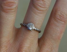 Twisted Shell Ring - Ocean Jewellery by Sophie Jade Jewellery by SophieJadeJewellery on Etsy https://www.etsy.com/ca/listing/265788586/twisted-shell-ring-ocean-jewellery-by