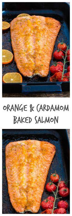 Orange and Cardamom Baked Salmon