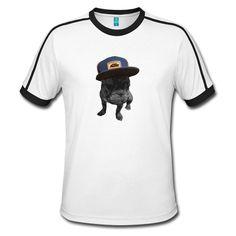 Designed by Le-sign Designs Pullover, Sign Design, Retro, Shirt Designs, Mens Tops, Fashion, French Bulldog Shedding, Contrast Color, Moda