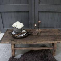 Oud houten Salontafel driftwood