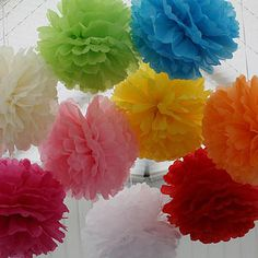 Giant Pom Pom Tissue Balls